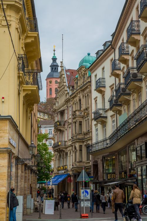 baden baden,Senamiestis,baden württemberg,istoriškai,miesto vaizdas