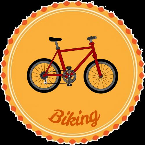 badge flair biking