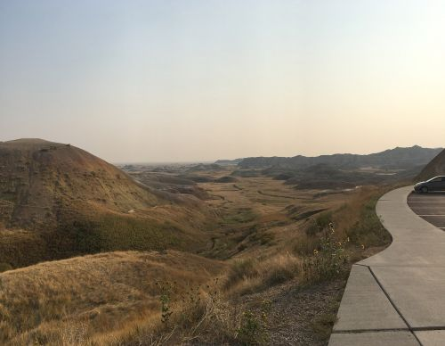 badlands vista geology