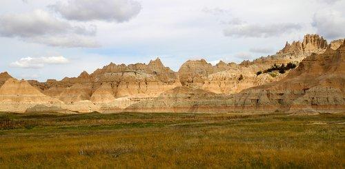 badlands  south dakota  nature