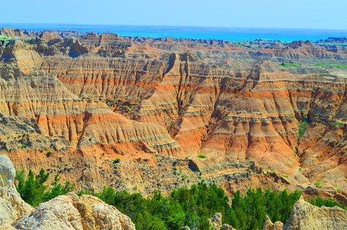 badlands  sand rocks  landscape
