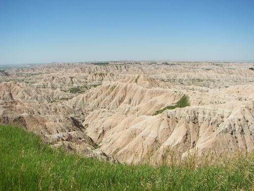 badlands nature landscape