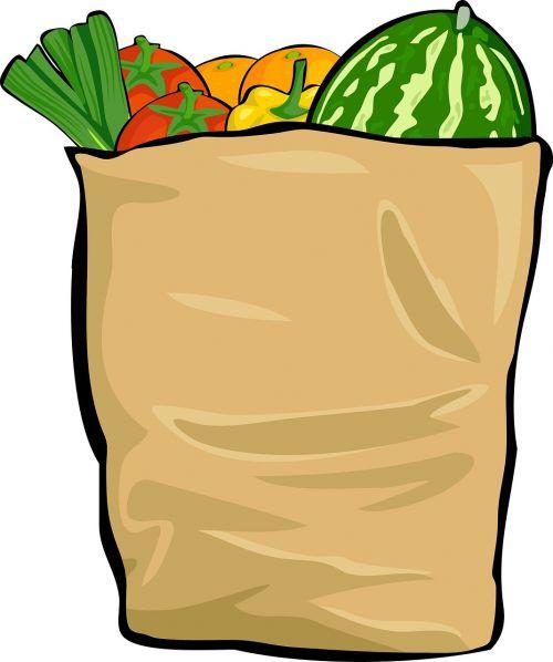 bag shopping groceries