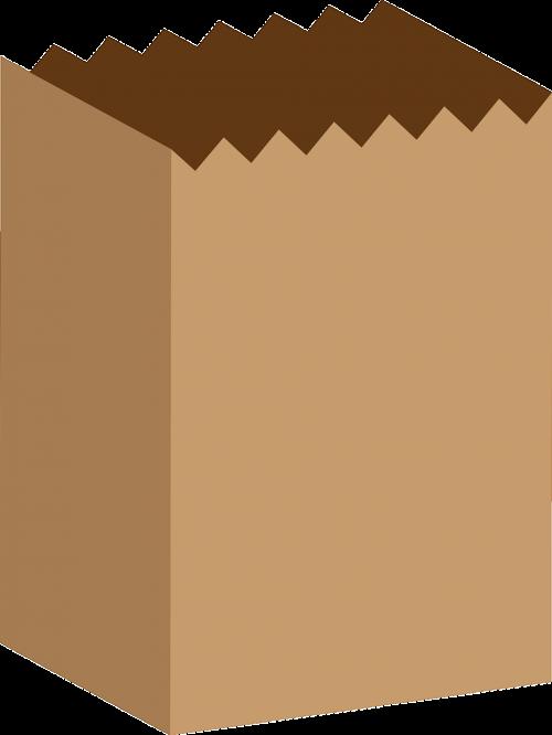bag brown groceries