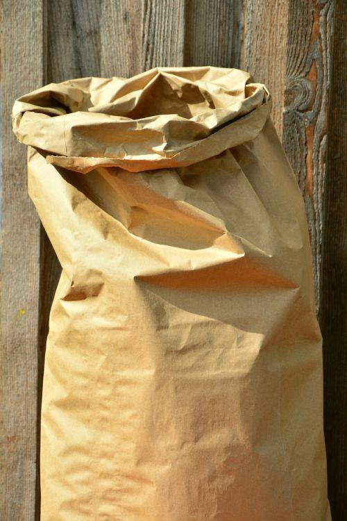 bag paper bag sack of grain