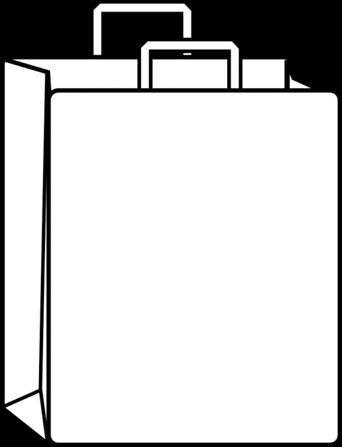 bag paper bag white