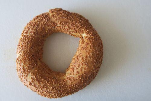 bagel food bread