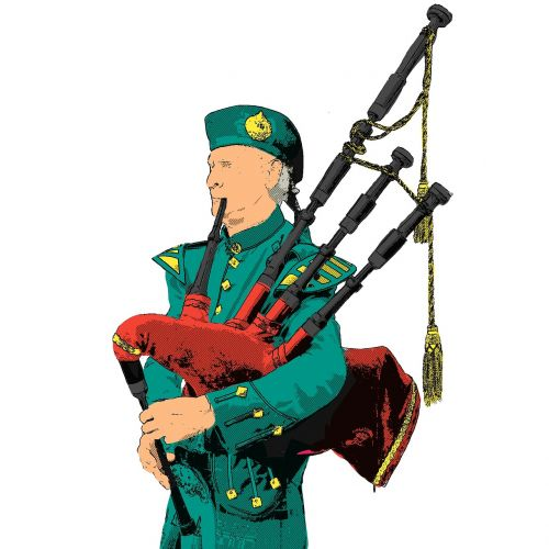 bagpipes highlander man