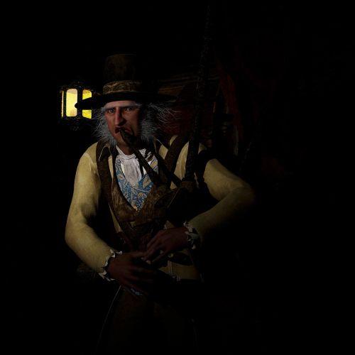 dulkes,steampunk,žibintas,baugus