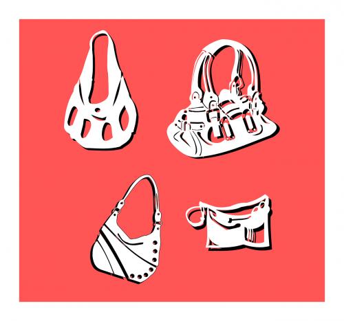 maišeliai,piniginės,rankinės,apsipirkimas,pirkinių maišeliai,moterys,mada,nemokama vektorinė grafika