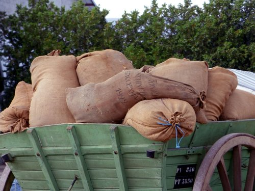 bags  cart  wheel