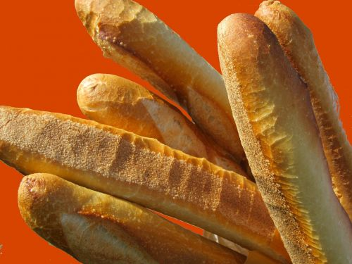 baguette bread food