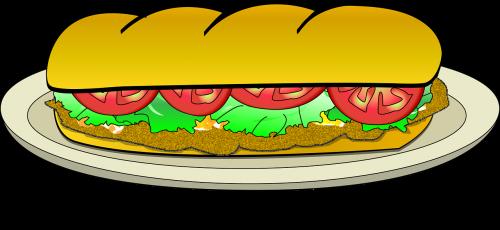 baguette food milanese