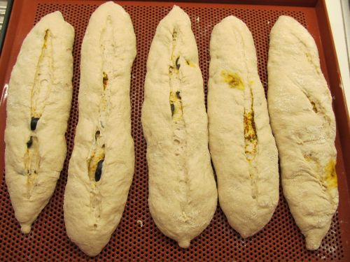 baguette dough filled