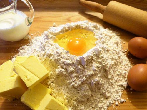 bake ingredients butter