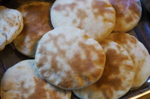 baked bread pita