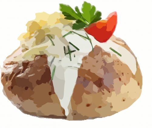 baked potato potatoes vegetable