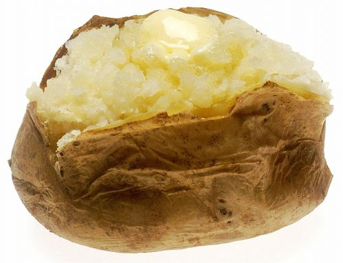 baked potato butter melted