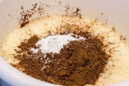 baking cake making cocoa