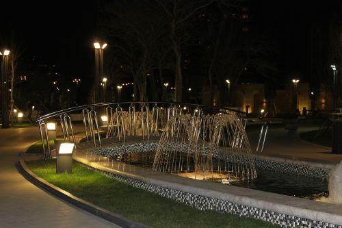 baku azerbaijan night
