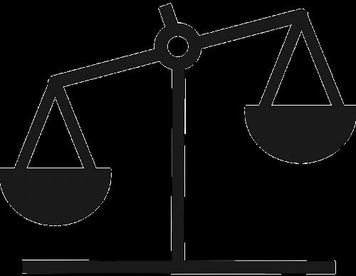 balance scale silhouette