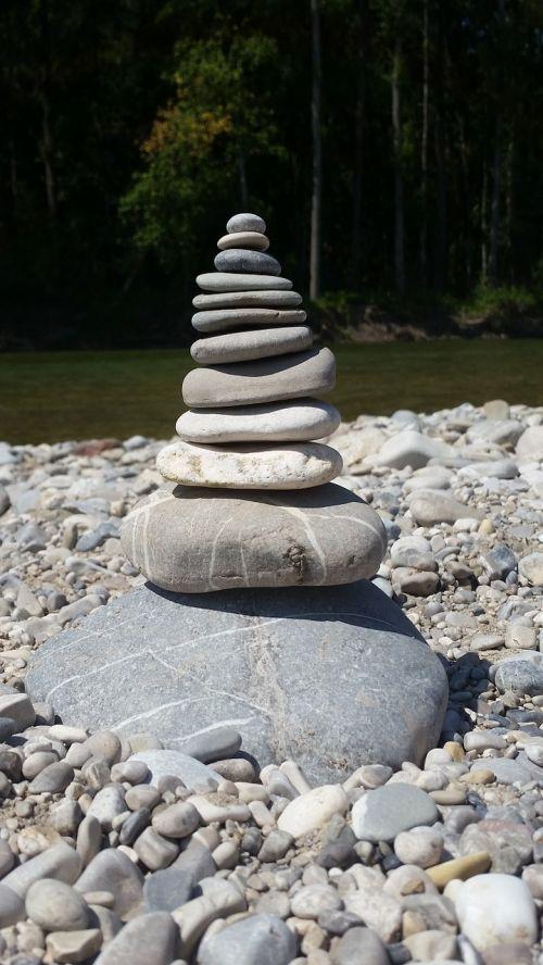 balansas, isar, akmenys, surinkti