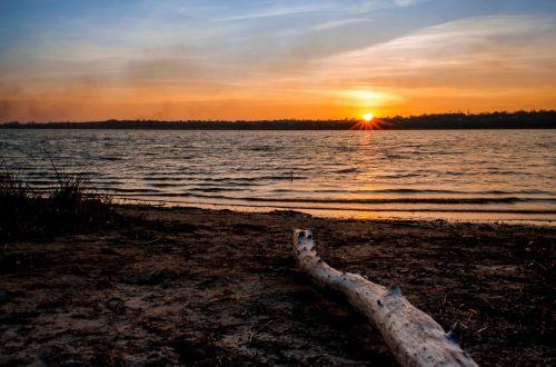 balance beam sunset landscape