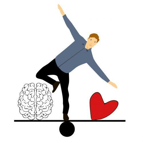 balancing in love cartoon character
