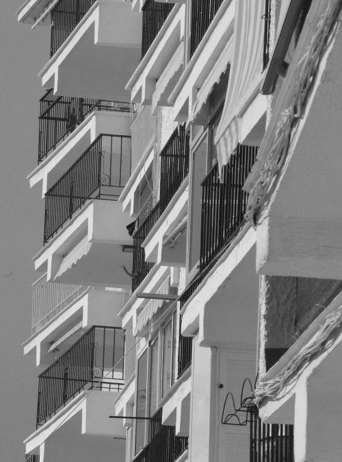 balconies buildings homes