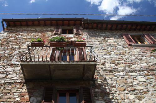 balcony stone walls stone