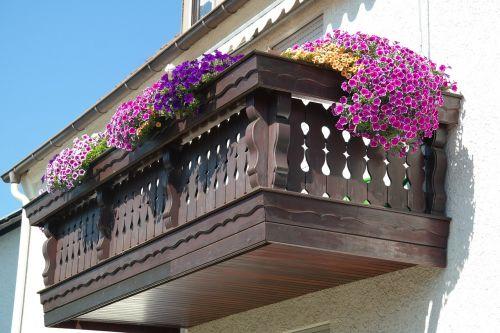 balcony decorated flowers