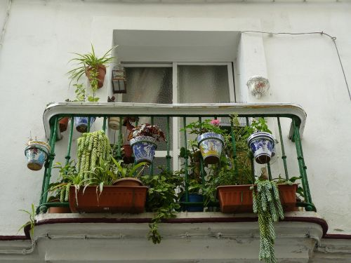 balcony exterior decoration hanging basket