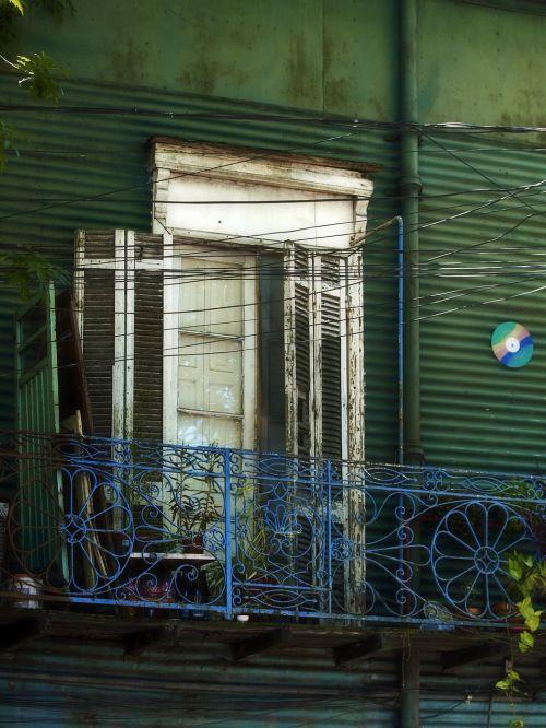 balcony facade window