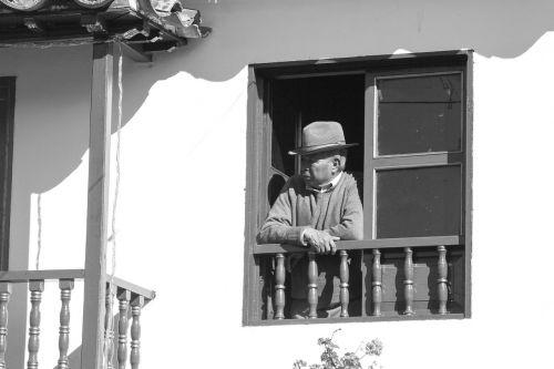 balcony native peasant