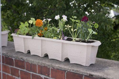 balcony box flower box flowerpot