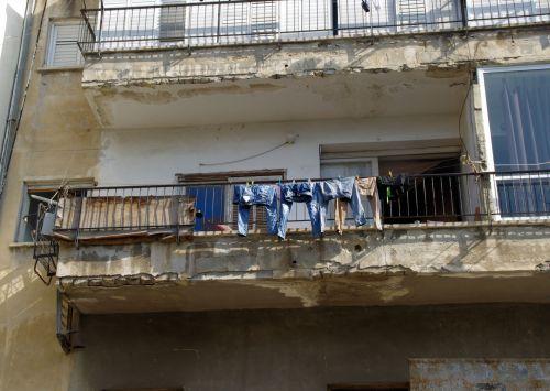 Balcony In Poor Neighborhood