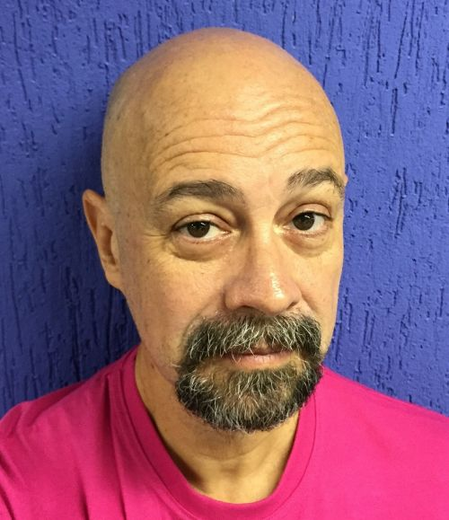 bald middle aged goatee