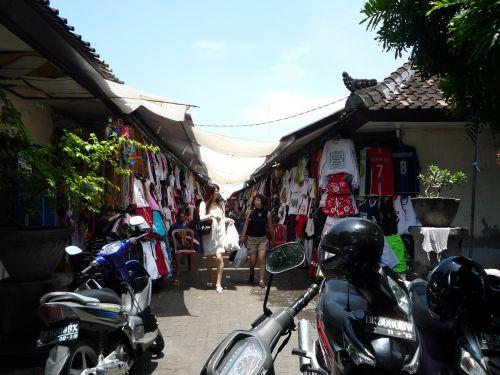 bali indonesia local shopping