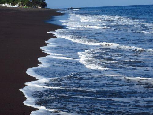 bali,vandenynas,Indijos vandenynas,vanduo,papludimys,juodas smelis,vulcan