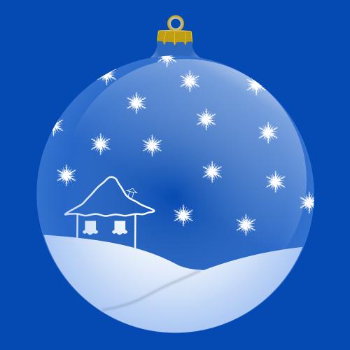 ball christmas blue