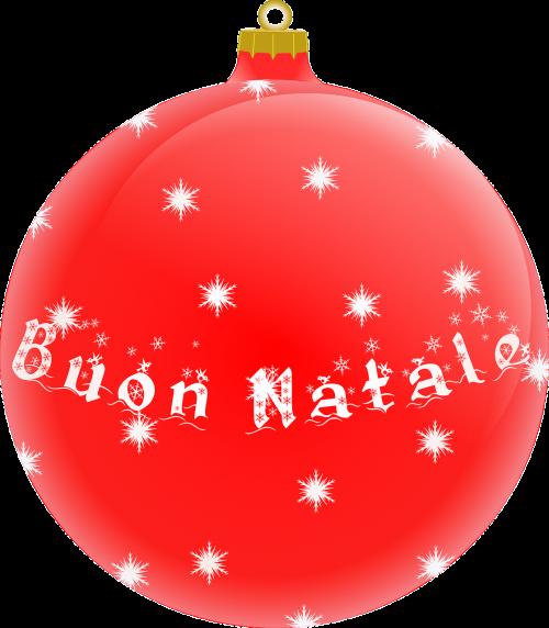 ball christmas red