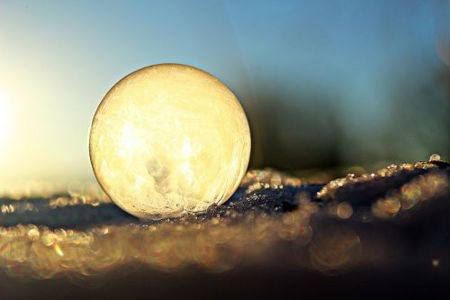 ball soap bubble frost globe
