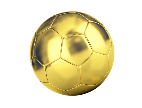 ball football golden ball