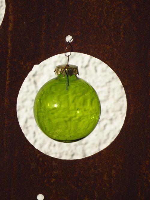 rutulys,stiklo rutulys,skaidrus,žalias,priklausyti,weihnachstkugel,Kalėdų laikas
