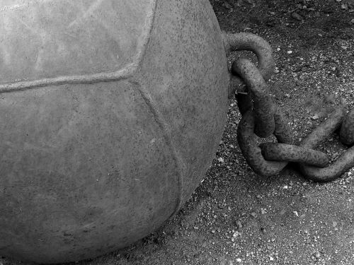 Ball And Chain Black And White