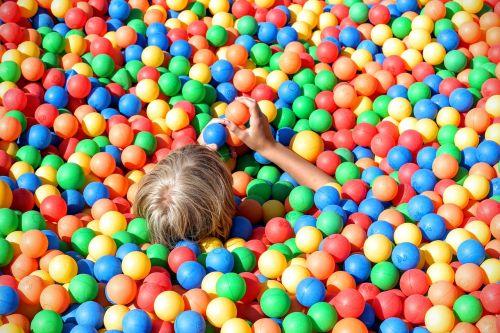 ball pit fun colorful