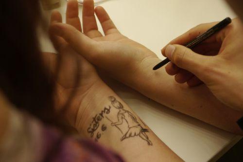 ballerina tattoo hand