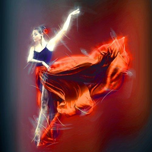 ballerina  red  costume