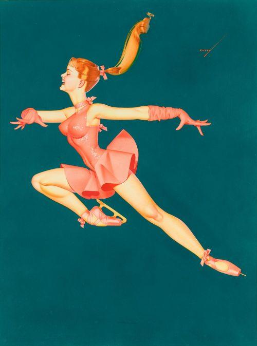 ballerina ice skater girl