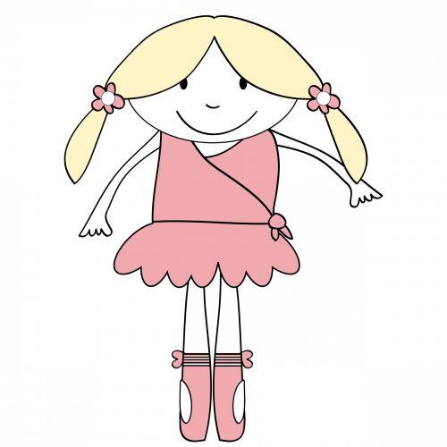 Ballerina Girl Cute Clipart